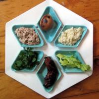 Seder Plate in Use