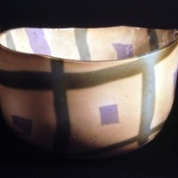 Coloured Inlay Clay Pressed Bowl