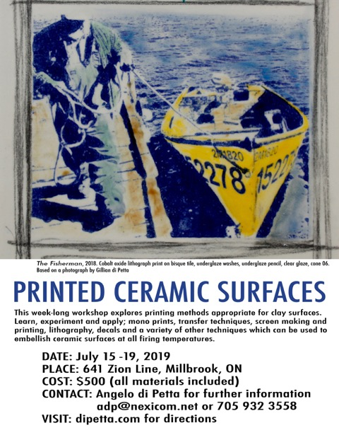 Angelo di Petta's Printed Ceramic Surfaces Workshop